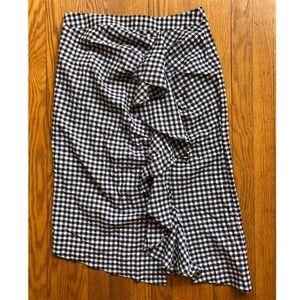 Topshop never worn ginham pattern long skirt